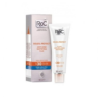 Fluido Matificante Anti-brillos SPF 30 (50ml) Roc SOLEIL PROTECT
