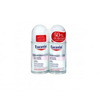 DESODORANTE EUCERIN PIEL SENSIBLE ROLL-ON 2 x 1