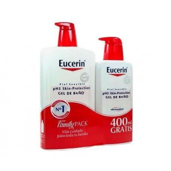 EUCERIN FAMILY PACK GEL PH5 1L+400ML